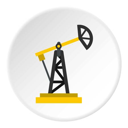 natural gas production: Oil rig icon circle