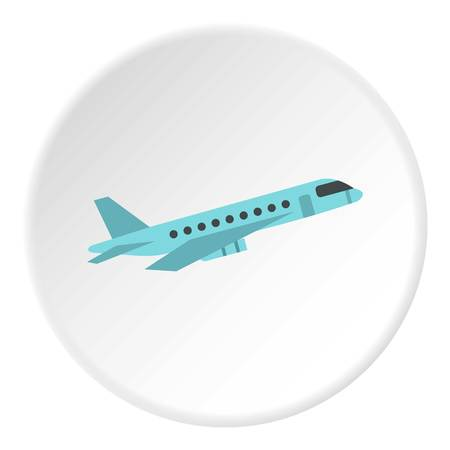 Passenger airliner icon circle Illustration