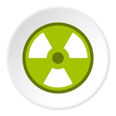 irradiation: Radioactive sign icon circle