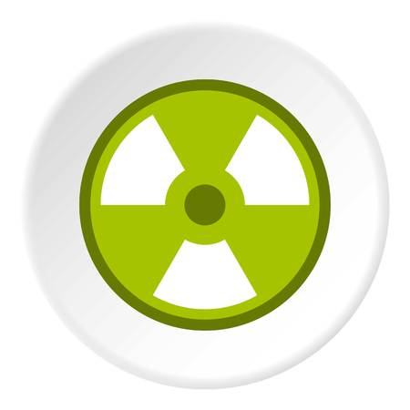 Radioactive sign icon circle
