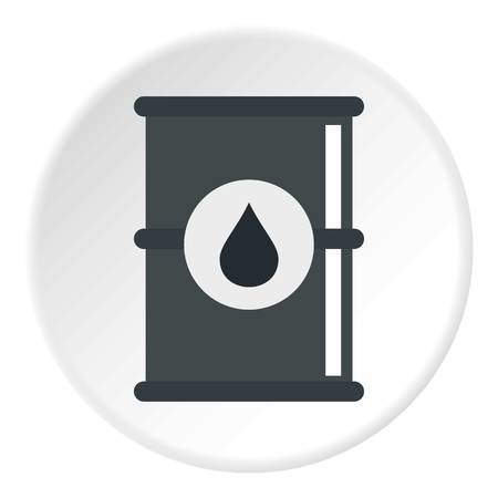 chemical material: Barrel of oil icon circle Illustration