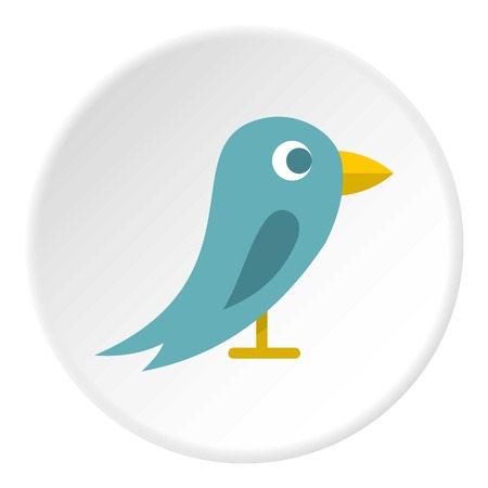 macaw: Bird icon in flat circle isolated vector illustration for web