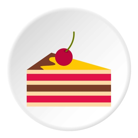 Cake with cherries icon circle