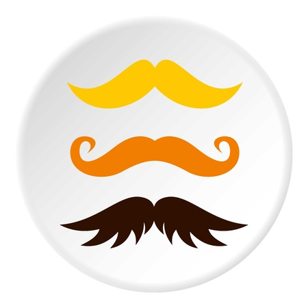 Three kind of moustache icon circle