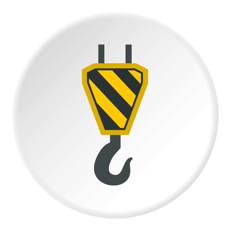 Hook from crane icon circle Ilustração