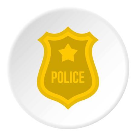 Police badge icon circle