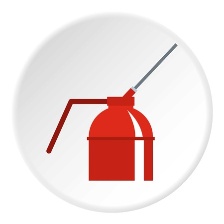 Fire extinguisher icon circle