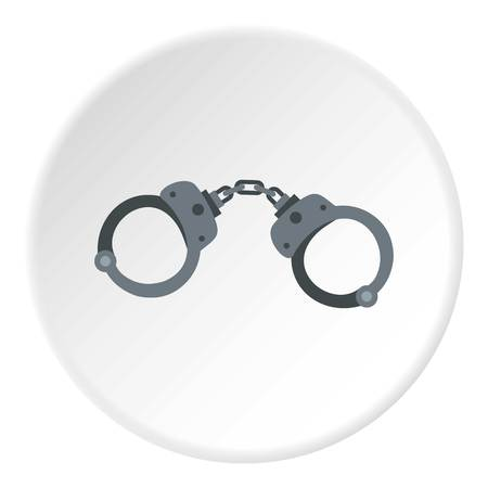 detainee: Handcuffs icon circle Illustration