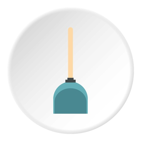whisk broom: Dustpan icon circle Illustration