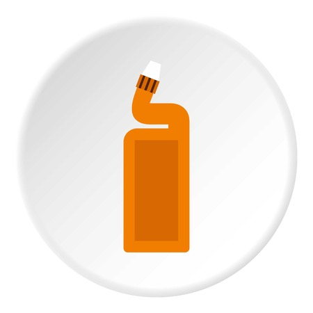 Disinfectant for the bathroom icon in flat circle isolated vector illustration for web Illustration