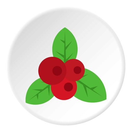 Red currant icon in flat circle isolated vector illustration for web Illustration