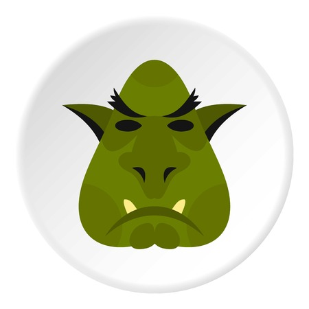 Head of troll icon circle Illustration