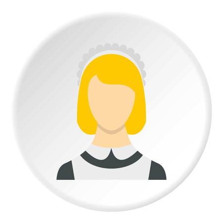 Maid icon circle Illustration