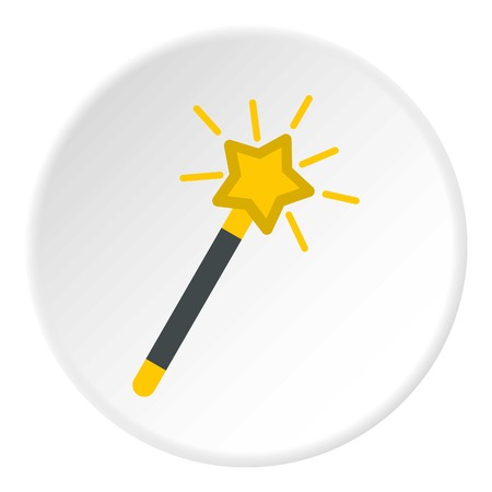 Magic wand icon circle