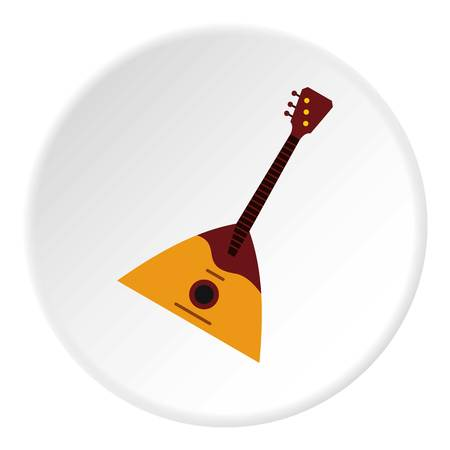 Guitar triangle icon circle Illustration