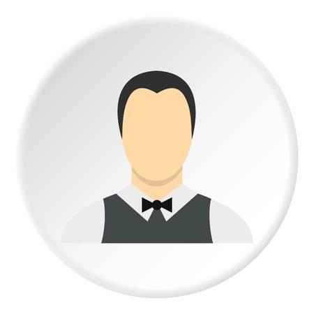 Waiter icon circle Illustration