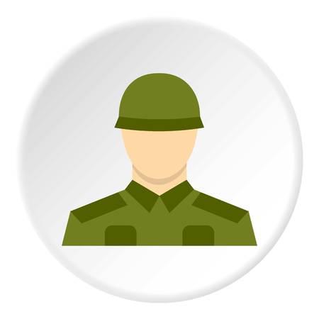 Soldier icon circle Illustration