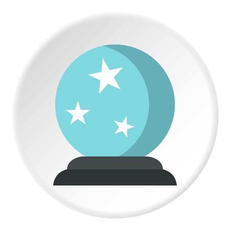 Crystal ball icon circle