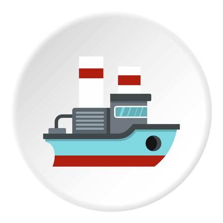 steamship: Small ship icon circle