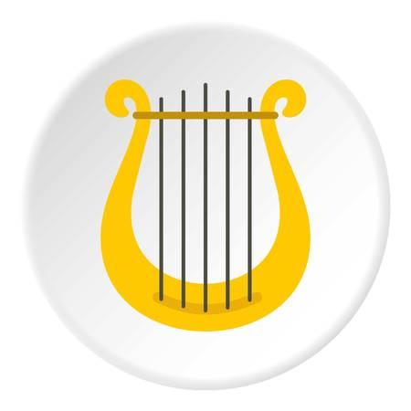Harp icon circle