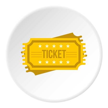 Ticket icon circle