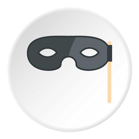 theatre masks: Carnival mask icon circle