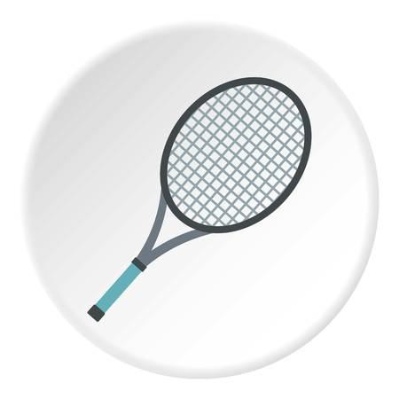 titanium: Tennis racket icon circle