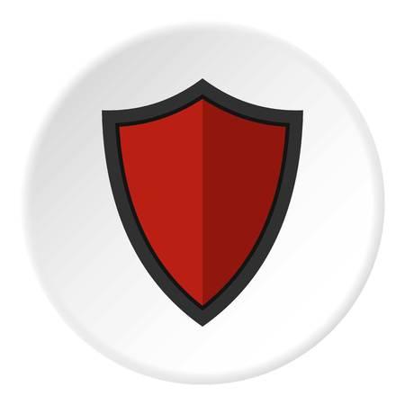 combatant: Shield for war icon circle Illustration