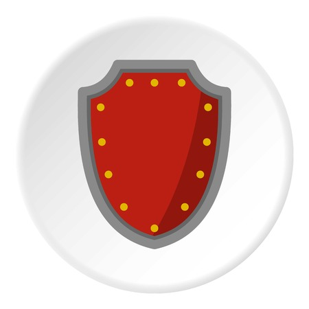 combatant: Army protective shield icon circle Illustration