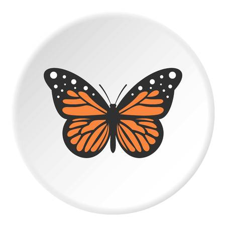 collect: Big butterfly icon circle Illustration