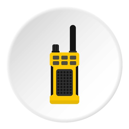 portable radio: Portable radio transmitter icon circle Illustration