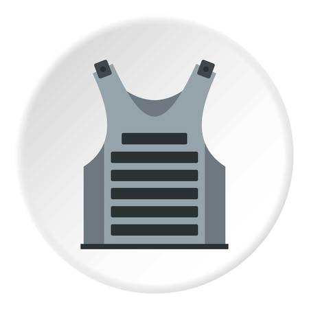 Paintball vest icon in flat circle isolated vector illustration for web