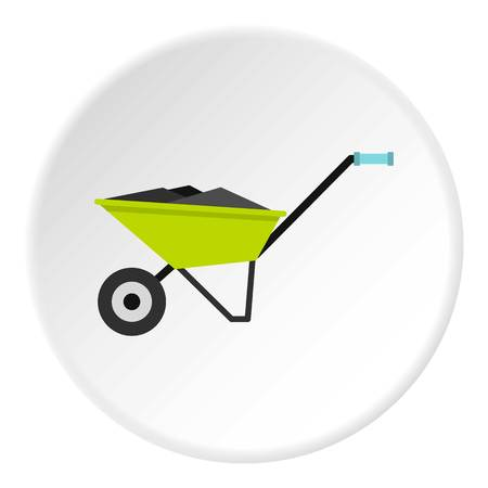 Wheelbarrow icon circle Illustration
