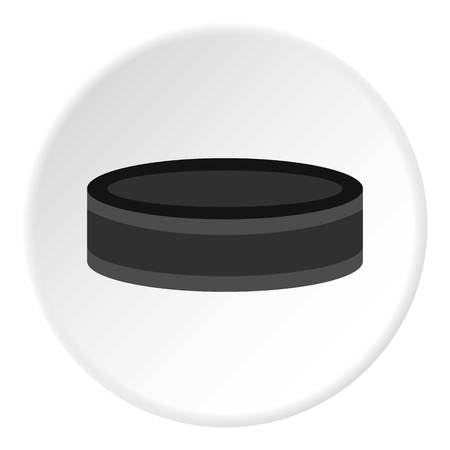 puck: Hockey puck icon circle