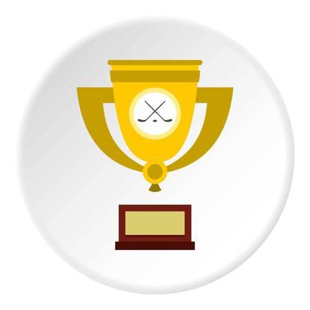 Ice hockey cup icon circle