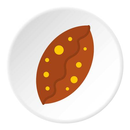 dessert buffet: Fresh baked pastry icon in flat circle isolated vector illustration for web Illustration