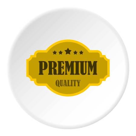 five star: Premium quality label icon circle
