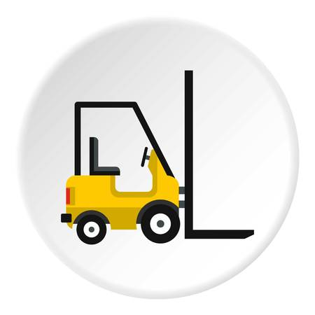 Yellow stacker loader icon circle