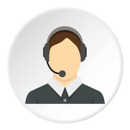 Call center operator icon circle