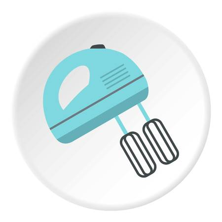Blue electric mixer icon circle Illustration