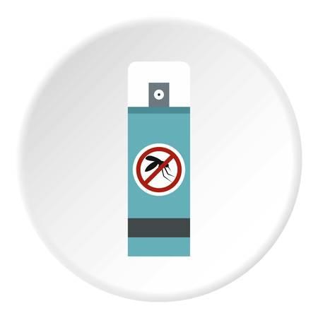 repellent: Mosquito repellent spray icon circle