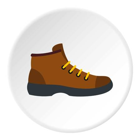 Hiking boot icon circle