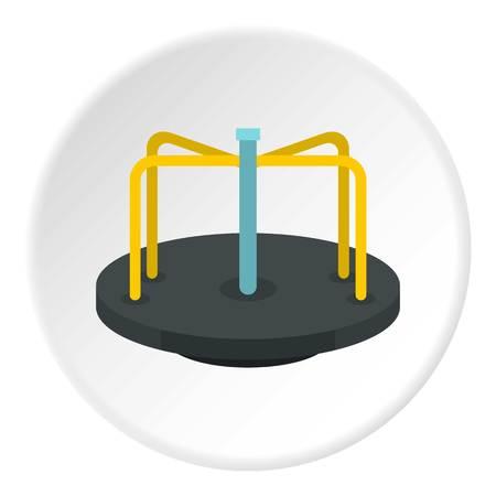 Merry go round icon circle