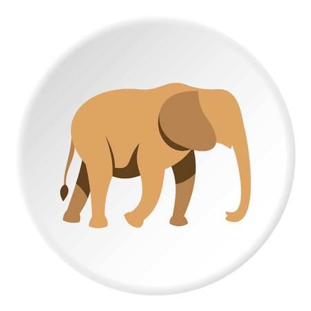 srilanka: Elephant icon circle