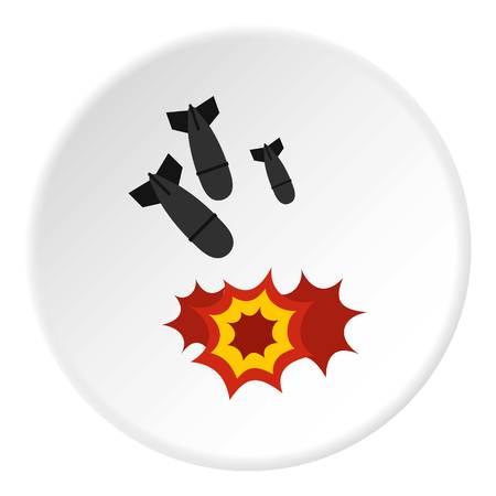 bombe atomique: Icône de la bombe cercle Illustration