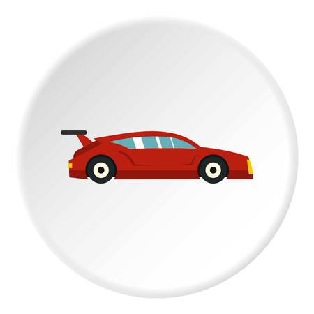 f1: Red car icon circle