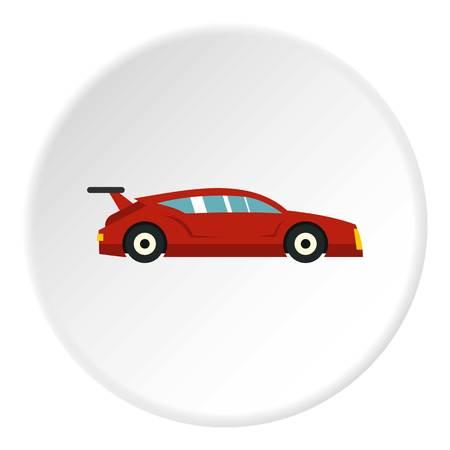Red car icon circle