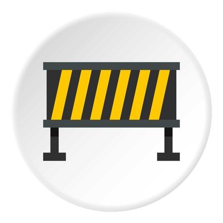 barricade: Safety barricade icon circle