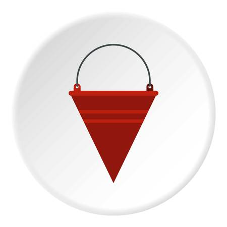 menace: Red fire bucket icon circle