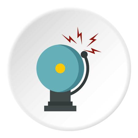 responding: Ringing fire alarm bell icon circle Illustration